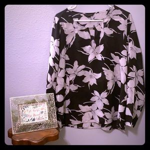 Banana Republic Long Sleeve Flora Blouse